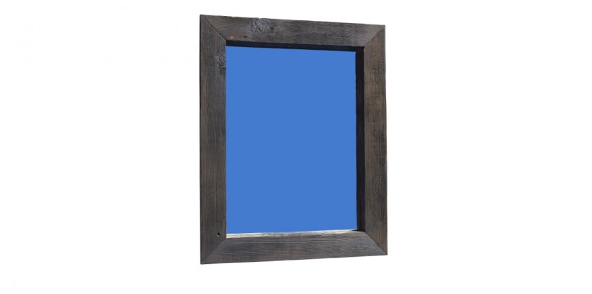 Recycled shou sugi ban timber mirror