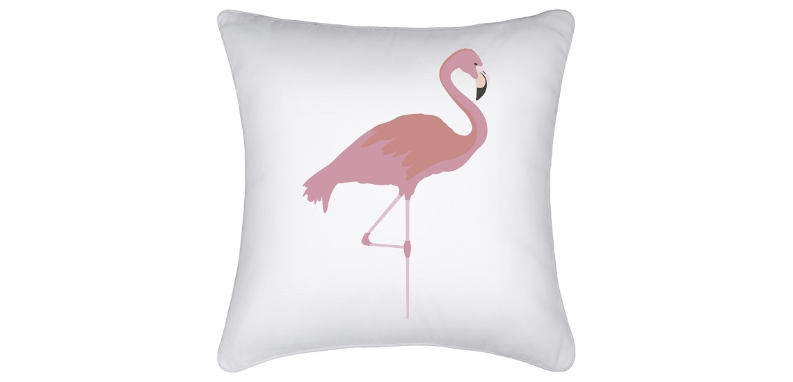 Watercolour Flamingo Indoor Cushion LeBench : Indoor Cushion Cover Watercolour Flamingo Pink White 45cm x 45cm White Piping from lebench.com.au size 1140 x 550 jpeg 87kB