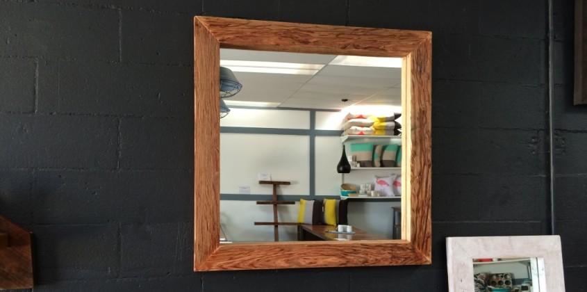 Reclaimed square mirror
