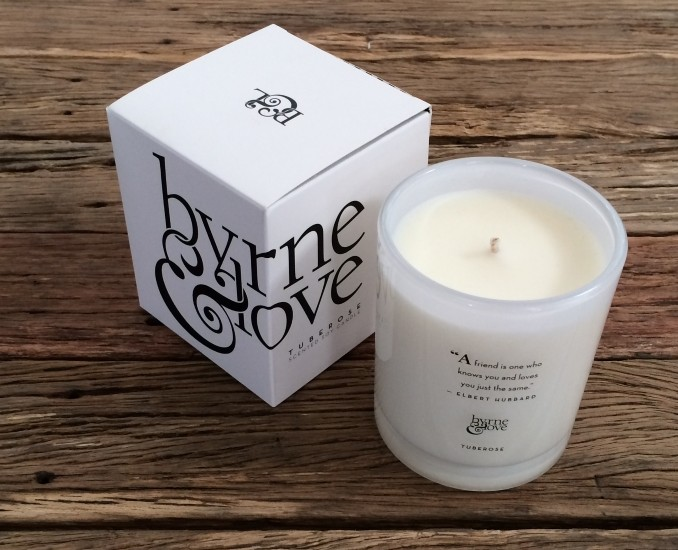 Tuberose Scented Soy Candle – large
